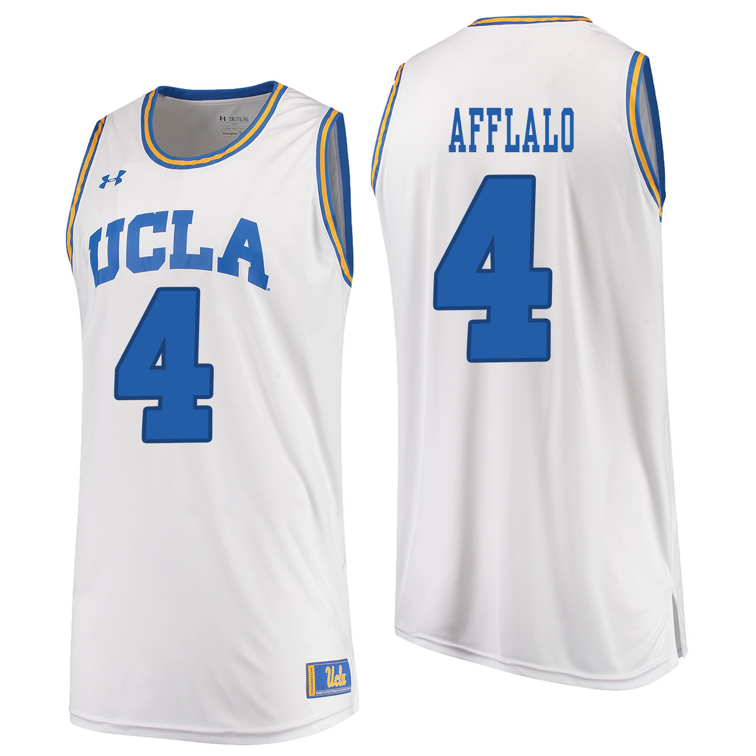UCLA Bruins 4 Arron Afflalo White College Basketball Jersey