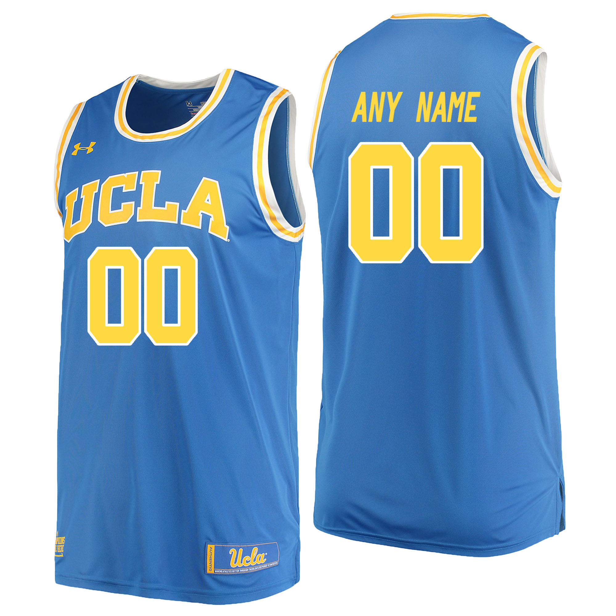 UCLA Bruins Blue Men's Customized College Basketball Jersey
