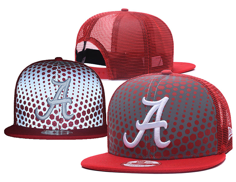 Alabama Crimson Tide Team Logo Red Reflective Snapback Adjustable Hat YS