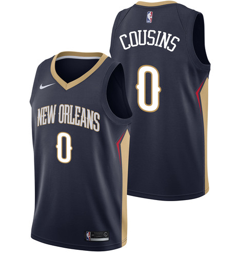 Pelicans 0 DeMarcus Cousins Navy Nike Swingman Jersey(Without The Sponsor's Logo)