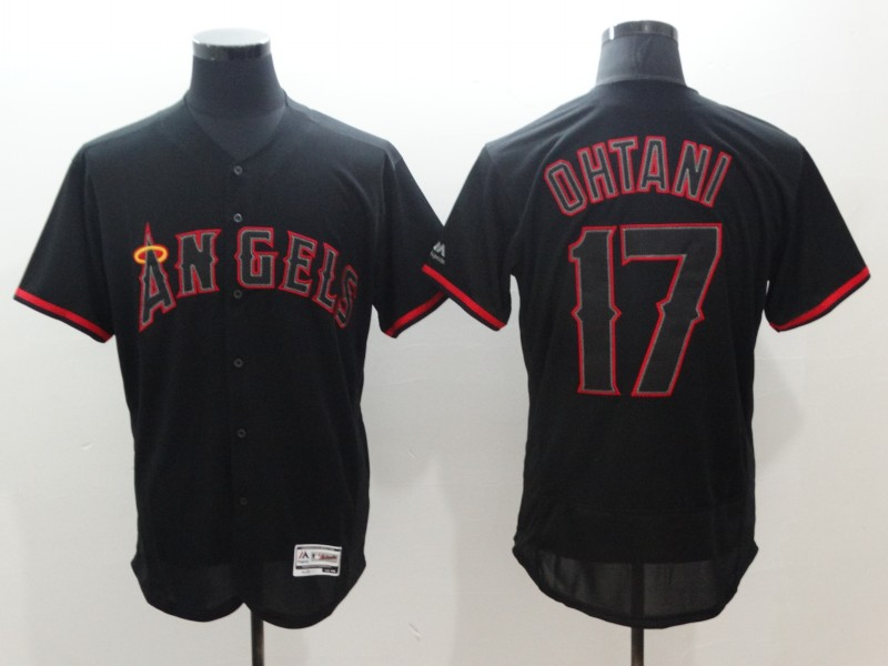 Angels 17 Shohei Ohtani Black Flexbase Jersey
