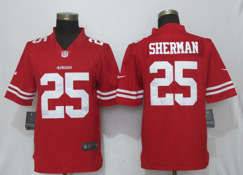 Nike 49ers 25 Richard Sherman Red Vapor Untouchable Player Limited Jersey