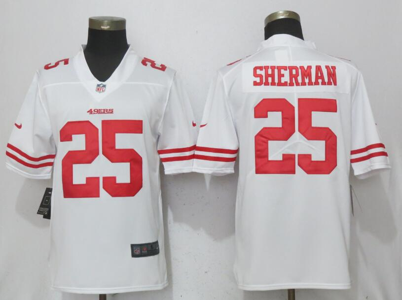 Nike 49ers 25 Richard Sherman White Vapor Untouchable Player Limited Jersey