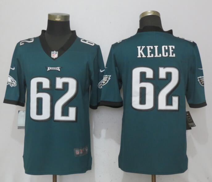 Nike Eagles 62 Jason Kelce Green Vapor Untouchable Player Limited Jersey