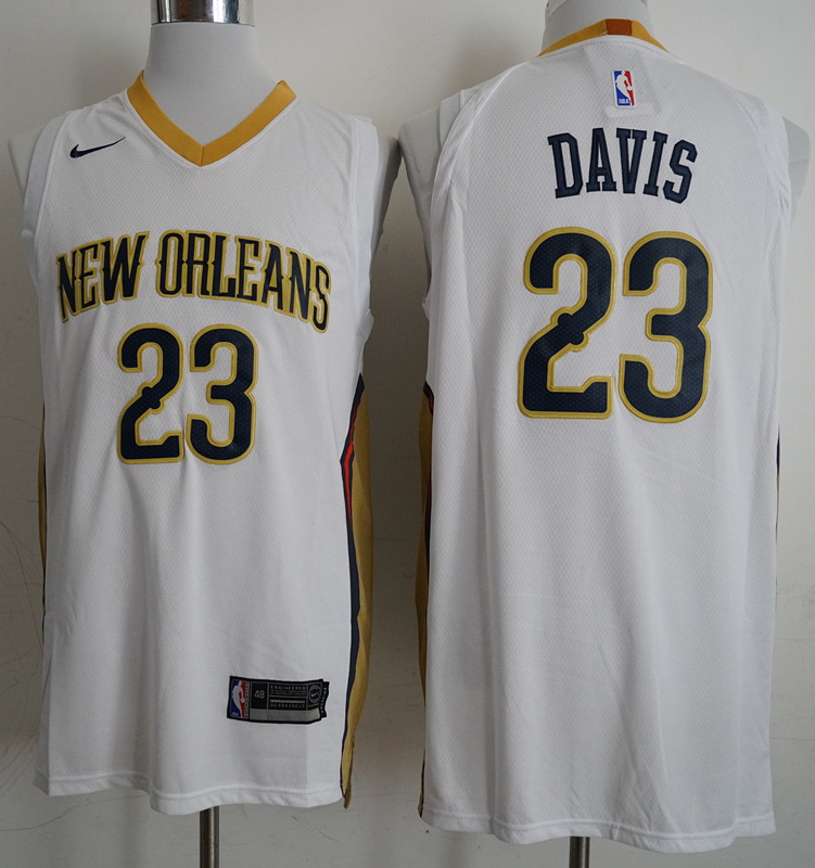Pelicans 23 Anthony Davis White Nike Authentic Jersey