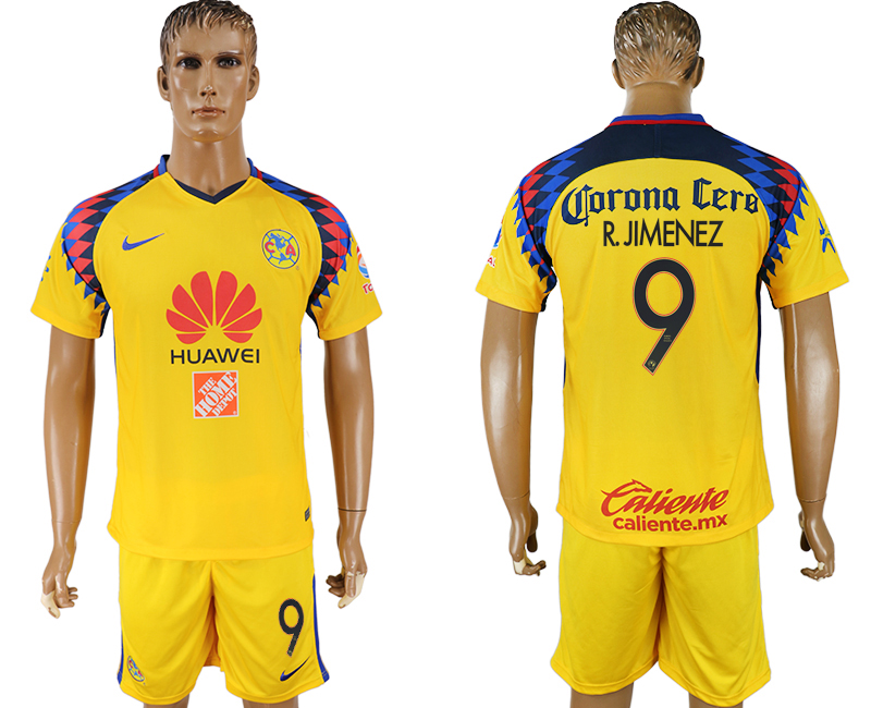2018-19 Club America 9 R. JIMENEZ Third Away Soccer Jersey