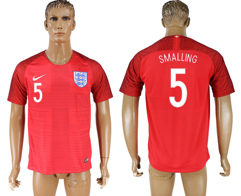 England 5 SMALLING Away 2018 FIFA World Cup Thailand Soccer Jersey