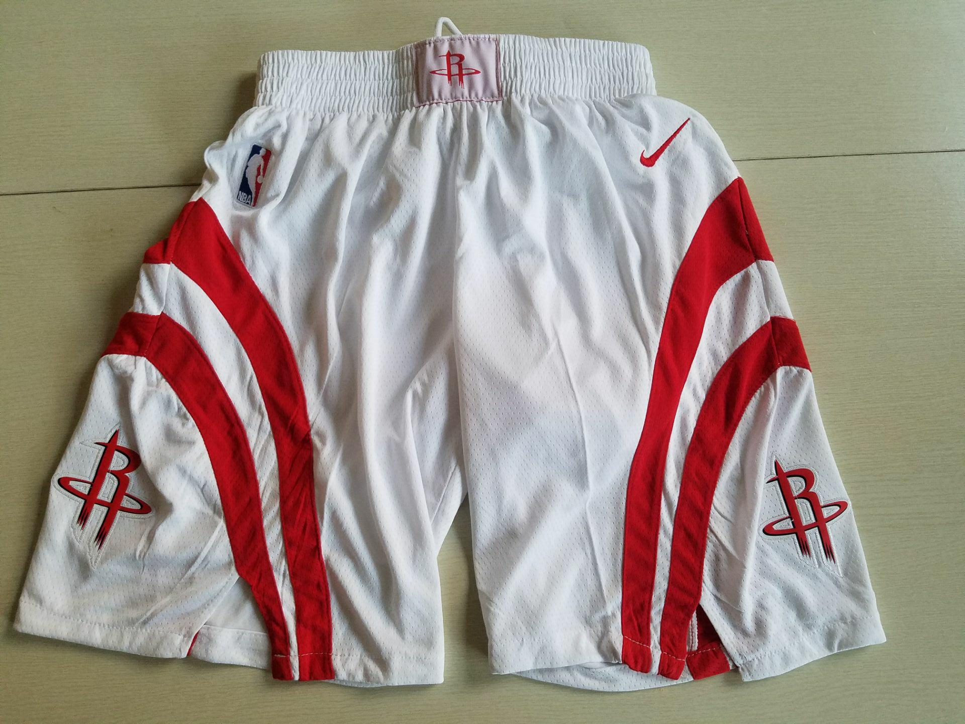 Rockets White Nike Swingman Shorts