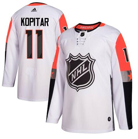 Kings 11 Anze Kopitar White Adidas 2018 NHL All-Star Game Atlantic Division Authentic Player Jersey