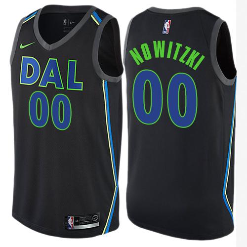 Dallas Mavericks Men's Customized Black City Edition Nike Swingman Jersey