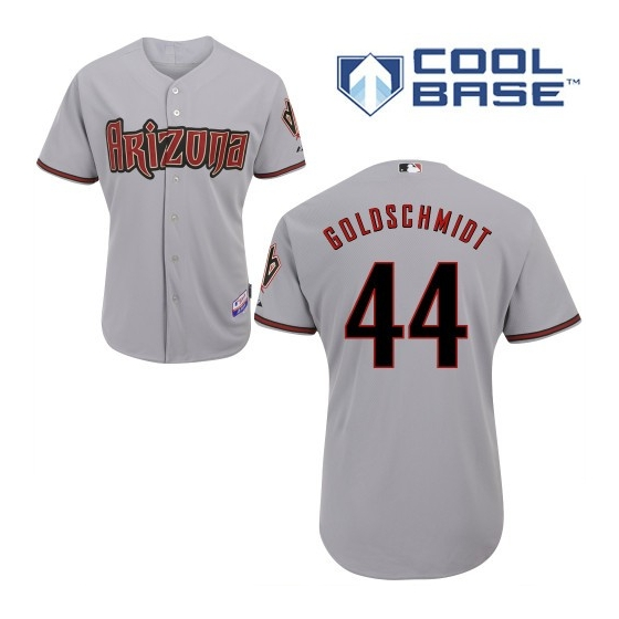 Diamondbacks 44 Paul Goldschmidt Gray Cool Base jersey