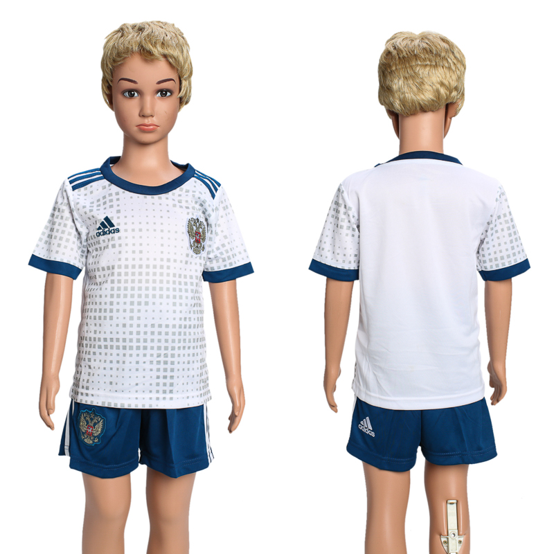Russia Away Youth 2018 FIFA World Cup Soccer Jersey