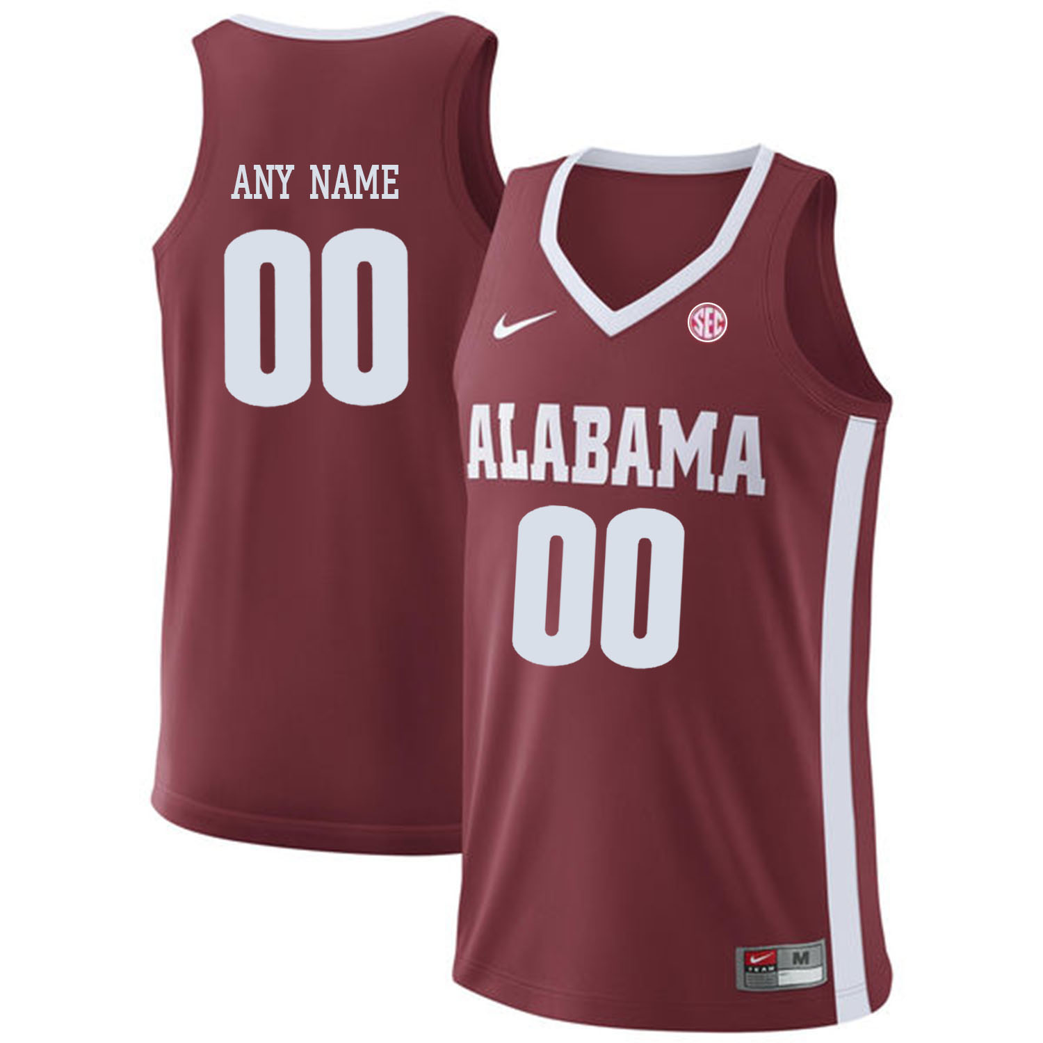 Alabama Crimson Tide Red Men's Customized College Basketball Jersey
