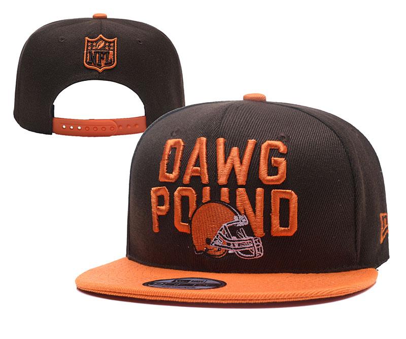 Browns Dawg Pound Brown Adjustable Hat YD