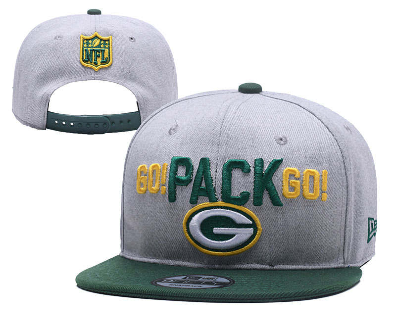 Packers Go Pack Go Gray Adjustable Hat YD