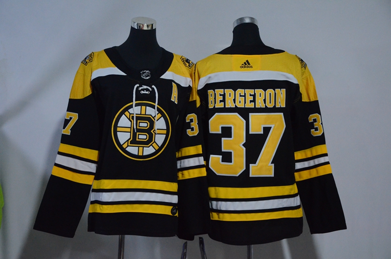 Bruins 37 Patrice Bergeron Black Youth Adidas Jersey