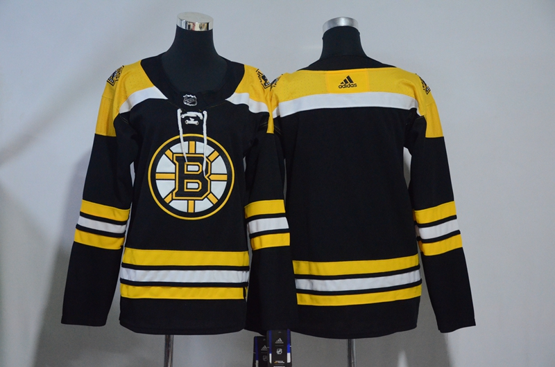 Bruins Blank Black Youth Adidas Jersey