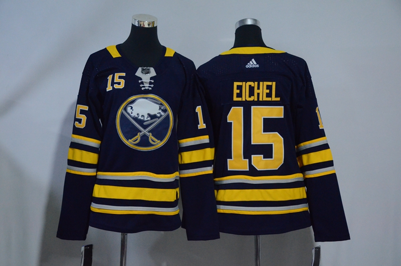 Sabres 15 Jack Eichel Navy Youth Adidas Jersey