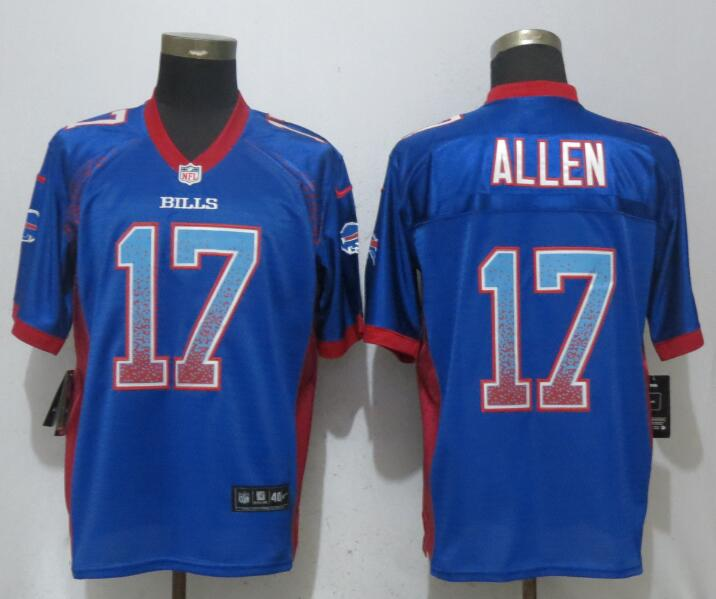 Nike Bills 17 Josh Allen Blue Drift Fashion Elite Jersey