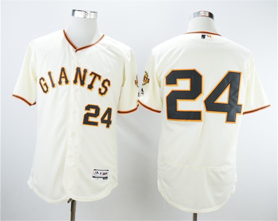 Giants 24 Willie Mays Cream Flexbase Jersey