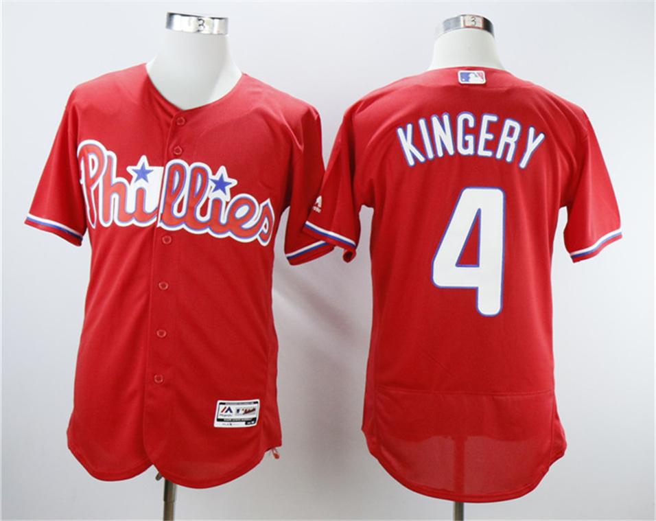 Phillies 4 Scott Kingery Red Flexbase Jersey