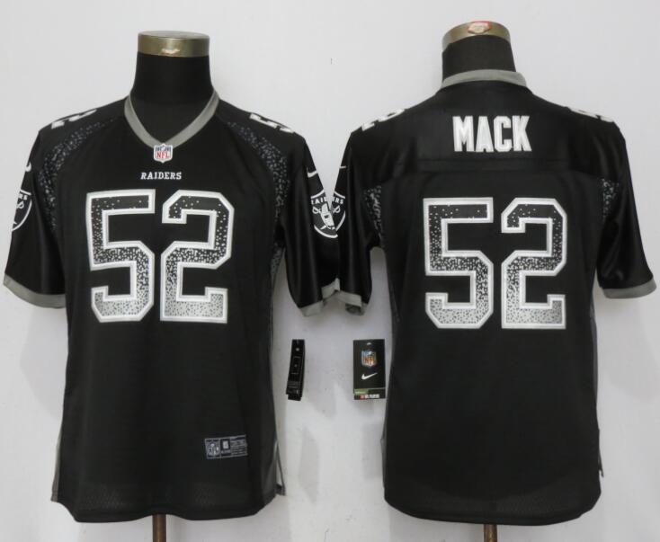 Nike Raiders 52 Khalil Mack Black Women Drift Fashion Jersey