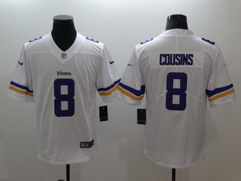 Nike Vikings 8 Kirk Cousins White Vapor Untouchable Limited Jersey