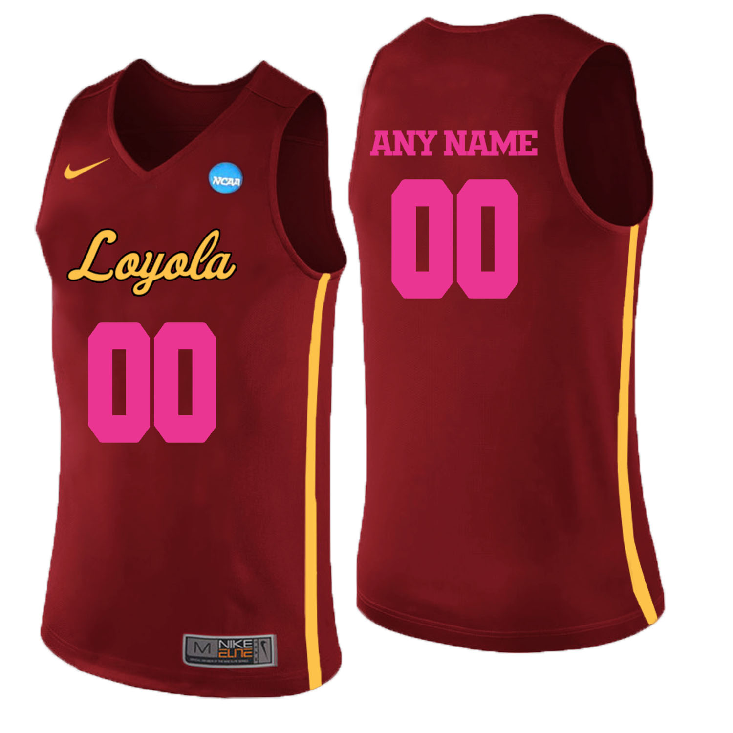 Loyola (Chi) Ramblers Red 2018 Breast Cancer Awareness Men's Customized College Basketball Jersey
