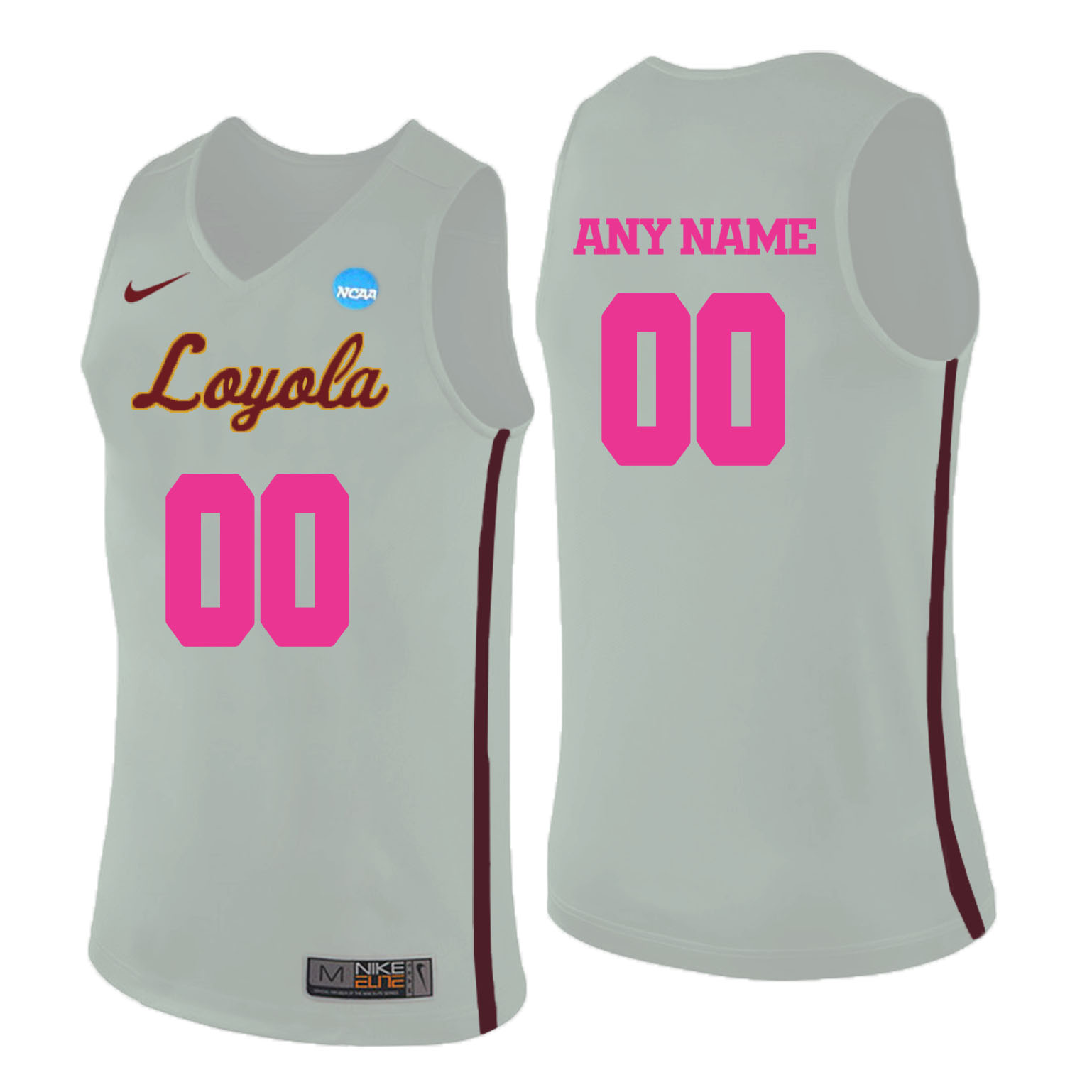 Loyola (Chi) Ramblers White 2018 Breast Cancer Awareness Men's Customized College Basketball Jersey