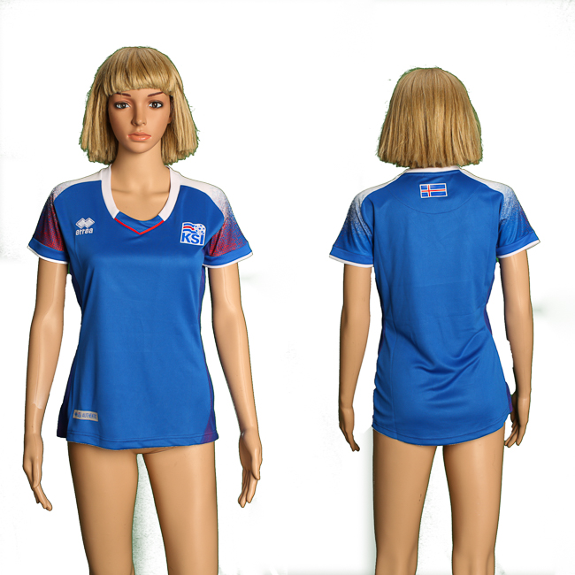 Iceland Home Women 2018 FIFA World Cup Soccer Jersey
