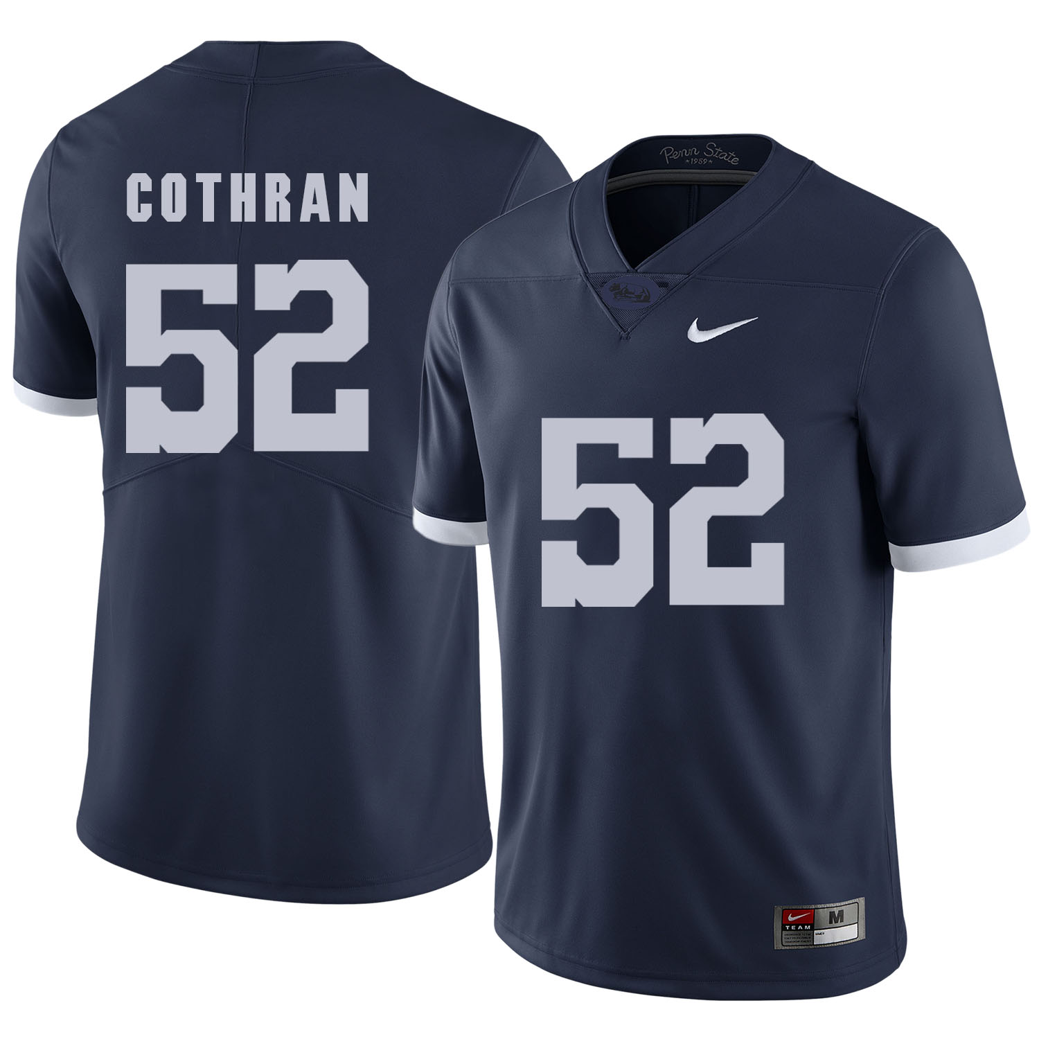 Penn State Nittany Lions 52 Curtis Cothran Navy College Football Jersey