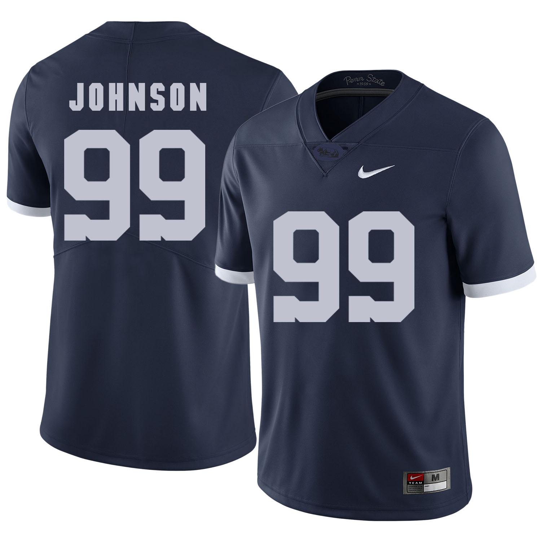 Penn State Nittany Lions 99 Austin Johnson Navy College Football Jersey