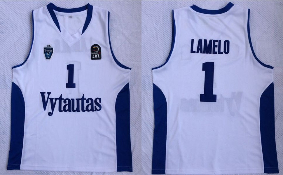 BC Prienai 1 Lamelo Ball White Basketball Jersey