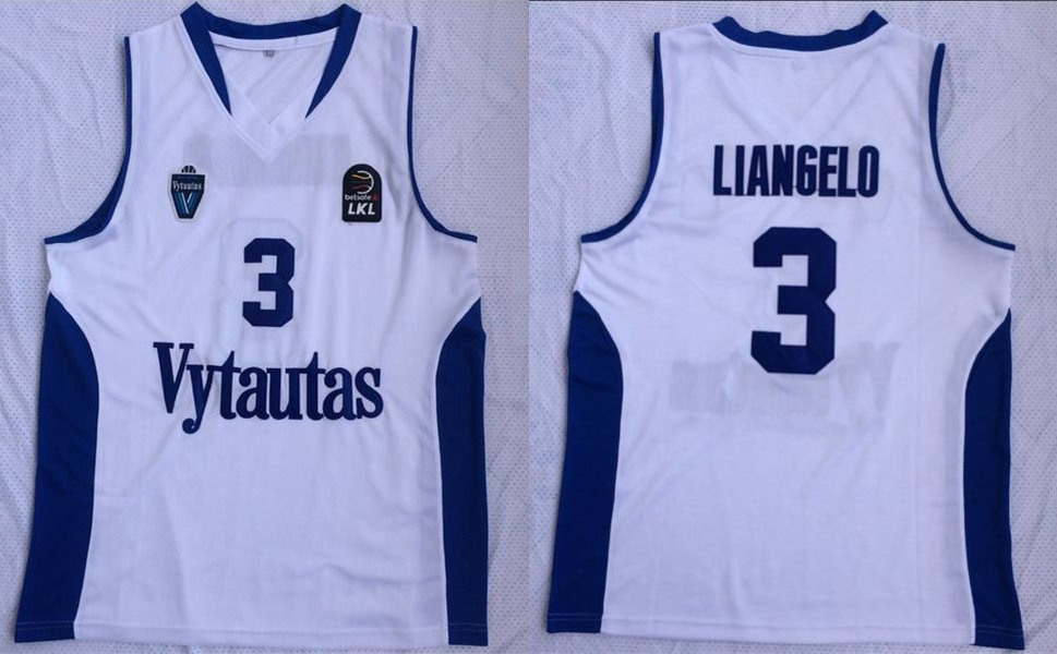 BC Prienai 3 Liangelo Ball White Basketball Jersey