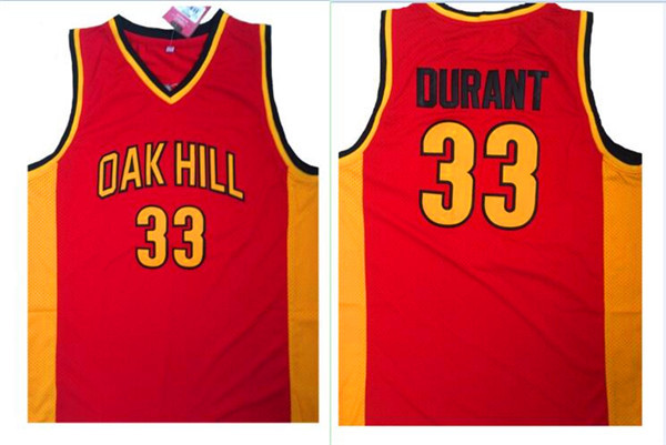 Oak Hill 33 Kevin Durant Red High School Basketball Jersey