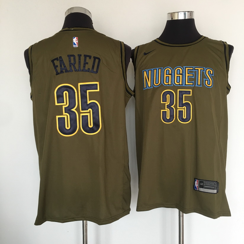 Nuggets 35 Kenneth Faried Olive Nike Swingman Jersey