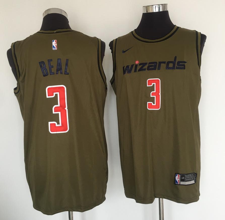 0ba3a18d9f58 Wizards 3 Bradley Beal Olive Nike Swingman Jersey