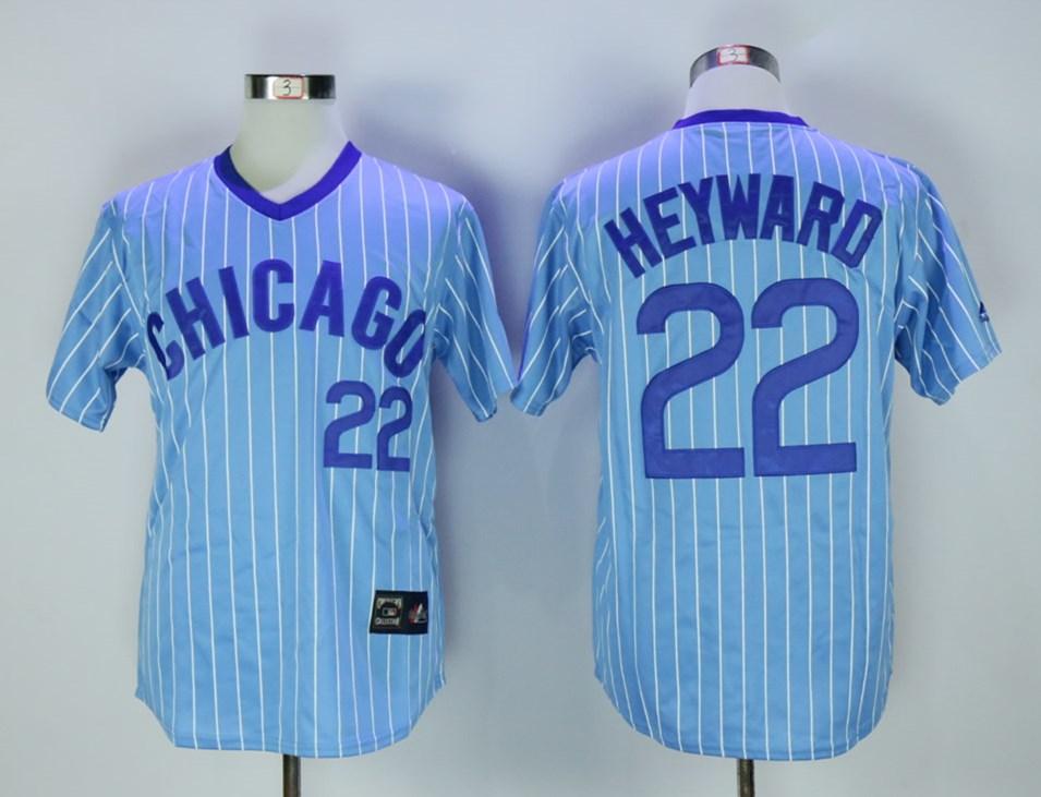 Cubs 22 Jason Heyward Light Blue Throwback Jersey