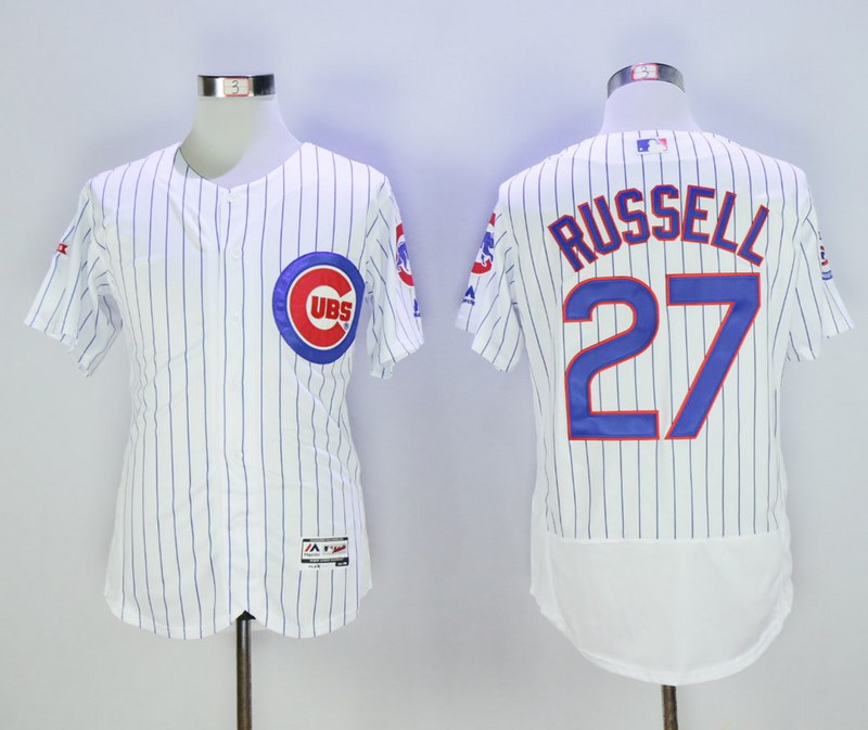 Cubs 27 Addison Russell White Flexbase Jersey