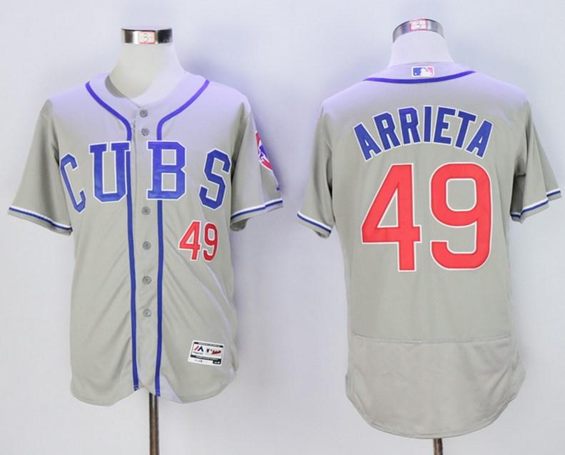 Cubs 49 Jake Arrieta Gray Flexbase Jersey
