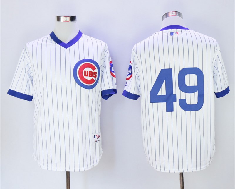 Cubs 49 Jake Arrieta White 1988 Turn Back The Clock Jersey