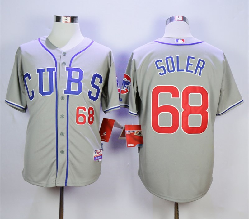 Cubs 68 Jorge Soler Gray Cool Base Jersey