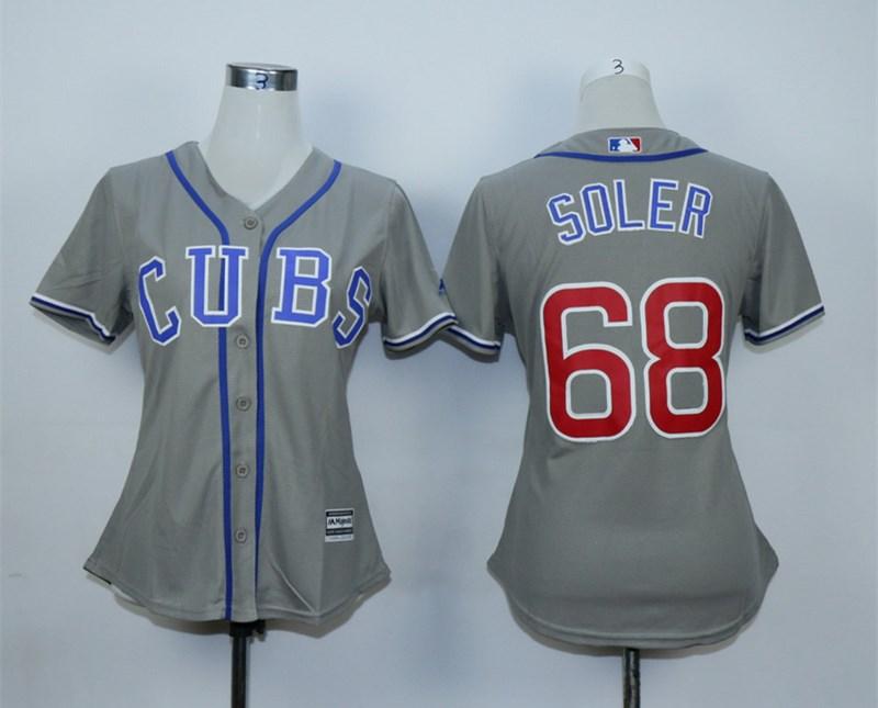 Cubs 68 Jorge Soler Gray Women Jersey