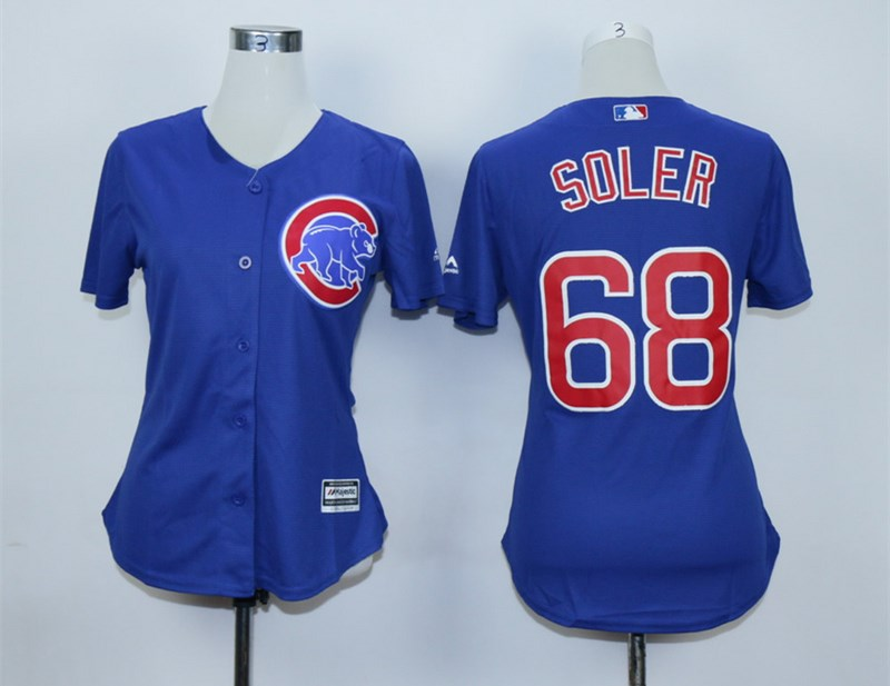 Cubs 68 Jorge Soler Royal Women Cool Base Jersey