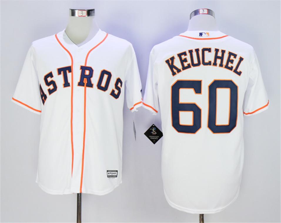 Astros 60 Dallas Keuchel White Cool Base Jersey