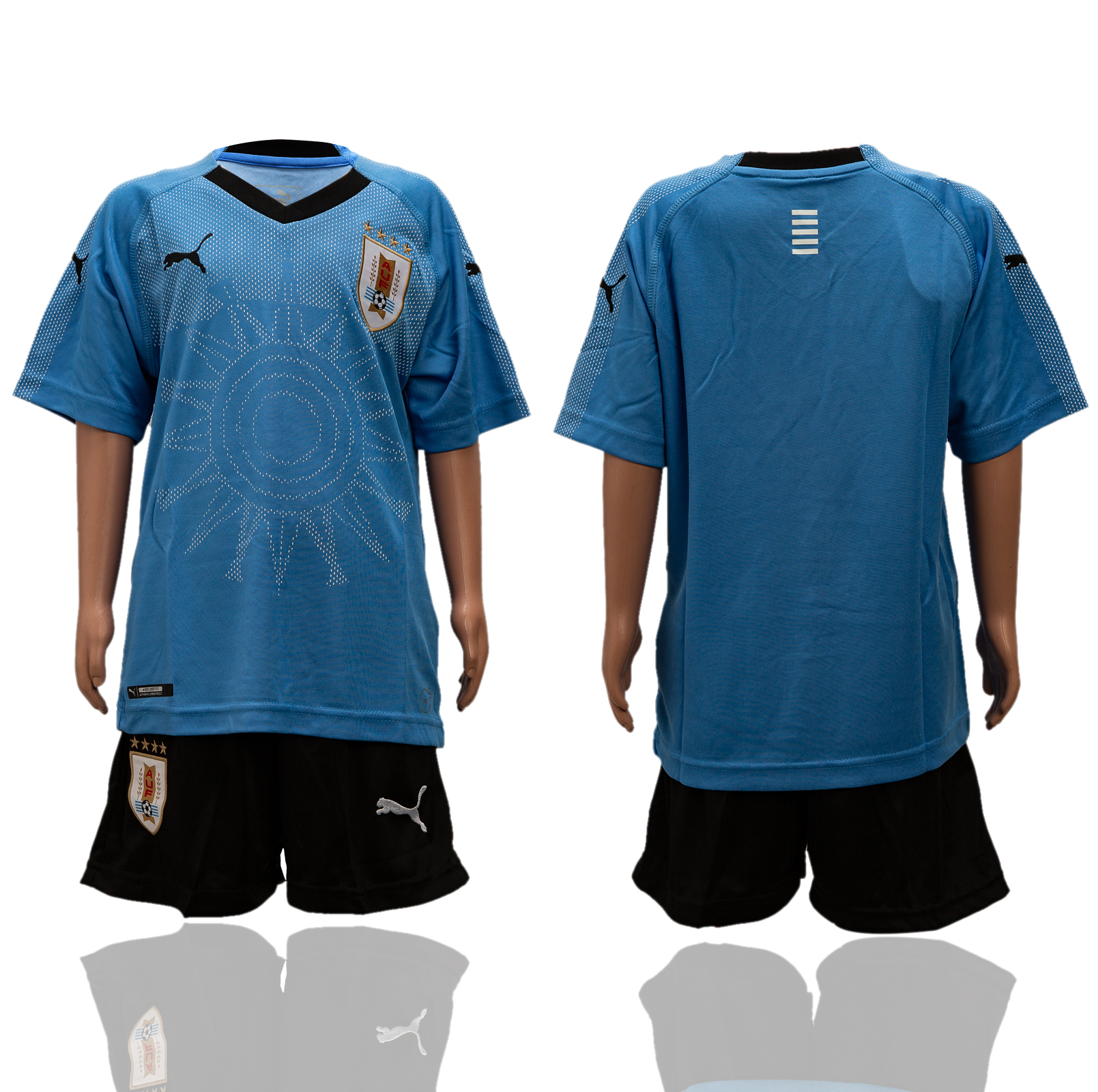 Uruguay Home Youth 2018 FIFA World Cup Soccer Jersey