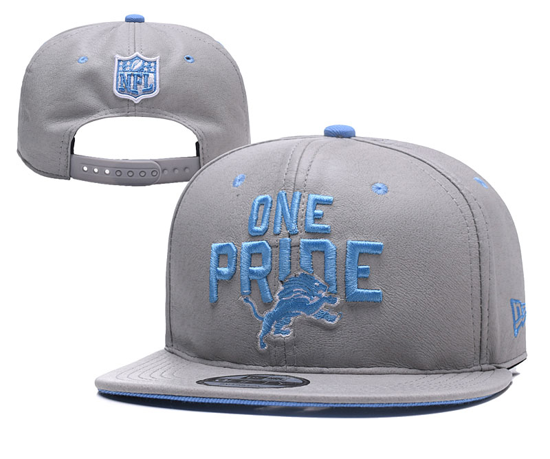 Lions One Pride Gray Adjustable Hat YD