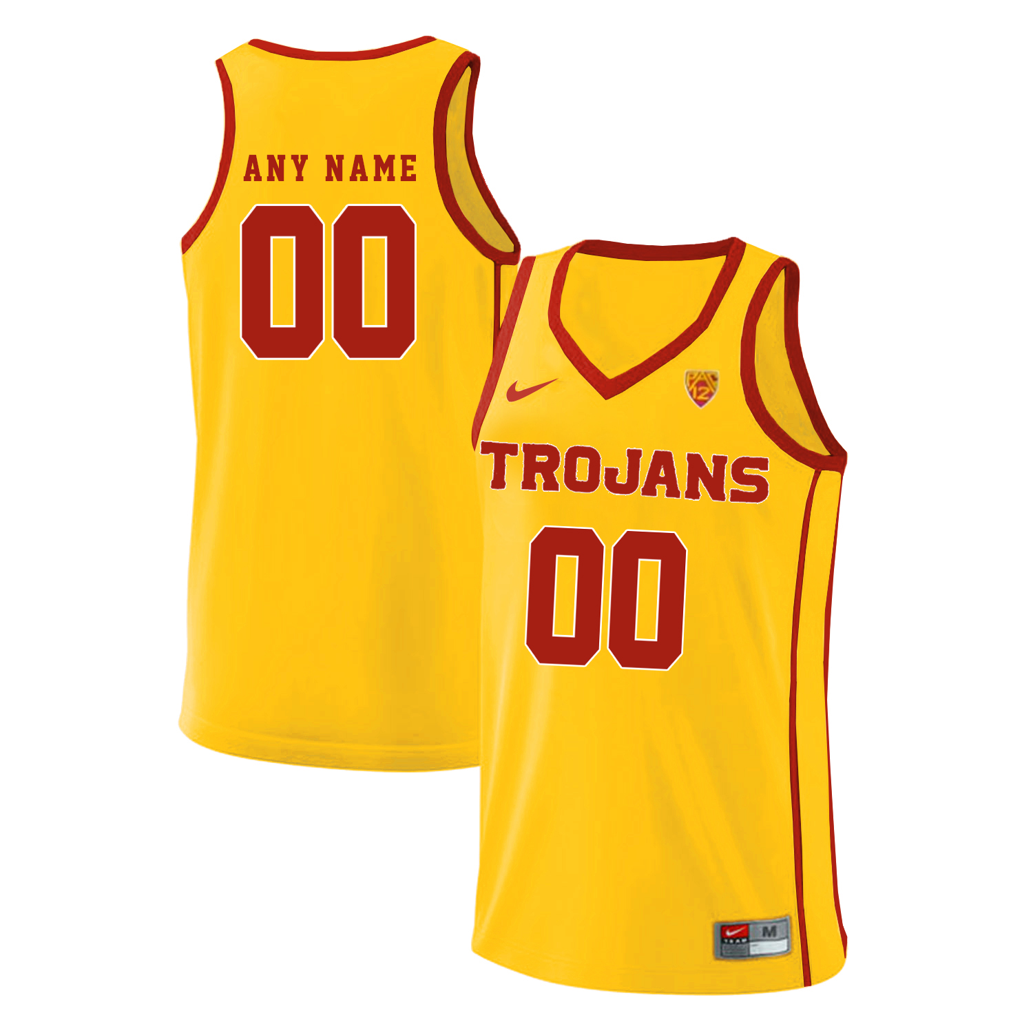 USC Trojans Yellow Men's Performance Customized Basketball Jersey