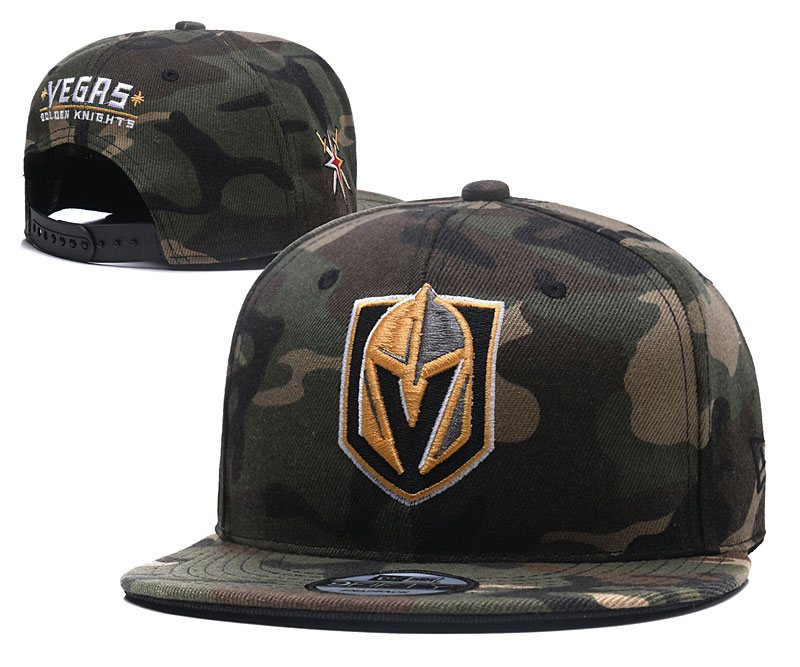 Vegas Golden Knights Fresh Logo Camo Adjustable Hat YD