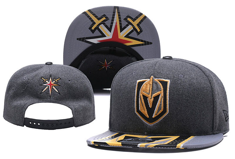 Vegas Golden Knights Fresh Logo Dark Gray Adjustable Hat YD